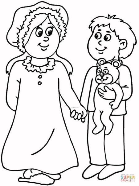 kids-in-pajamas-coloring-page